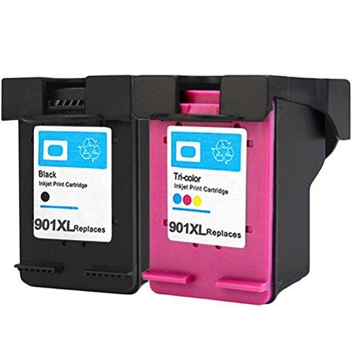ESTON Remanufactured Ink Cartridge Replacement for HP 901XL ( Black,Cyan,Magenta,Yellow , 2-Pack )