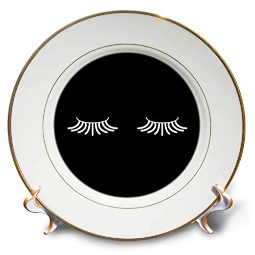 Art Collector Plate Collection - 3dRose Tory Anne Collections Art - Eyelashes - 8 inch Porcelain Plate (cp_301004_1)