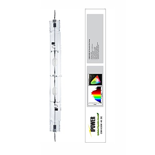 iPower 630 Watt Double Ended Master Color CDM Ceramic Metal Halide MH Grow Light Lamp Bulb 3100K