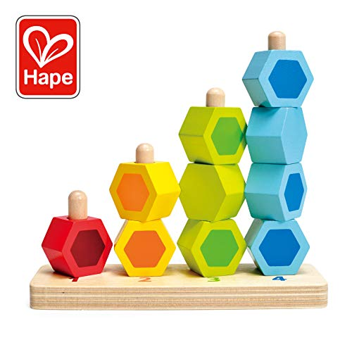 Hape Counting Stacker Toddler Wooden Stacking Block