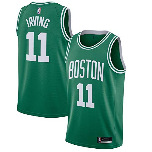 VF LSG Youth #11 Kyrie Irving Boston Celtics Green Swingman Jersey M