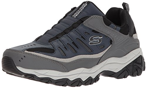 Skechers Sport Men's Afterburn Extra Wide Fit Wonted Loafer,navy/gray,13 4E US