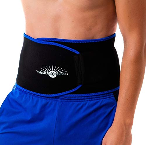 WeightLoss-Solutions Waist Trimmer Thermogenic Waist Slimmer for Women and Men | Sauna Belt for Reducing Belly Fat and Fast Weight Loss | Small, Medium, and Large (Plus Size) Sweat Belt