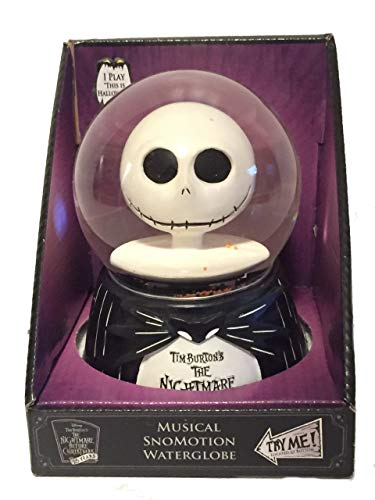 The Nightmare Before Christmas Jack Skellington Head Musical SnoMotion Waterglobe Disney's
