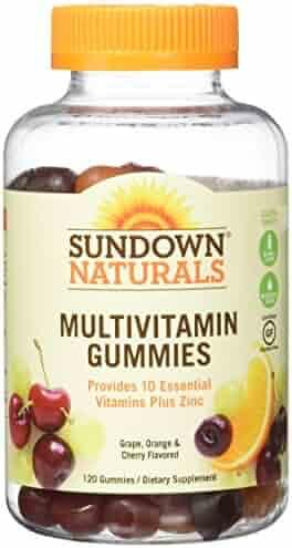 Sundown Naturals Adult Multivitamin Gummies, 120 Count