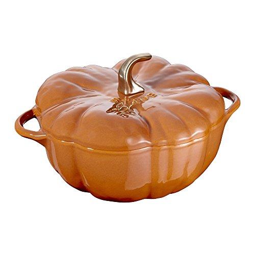 (Staub Cast Iron 5-qt Pumpkin Cocotte - Burnt Orange)