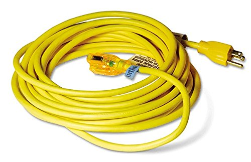 12 Ga Lighted Extension Cord Yellow 50 Ft Sjtw-A 5-15R
