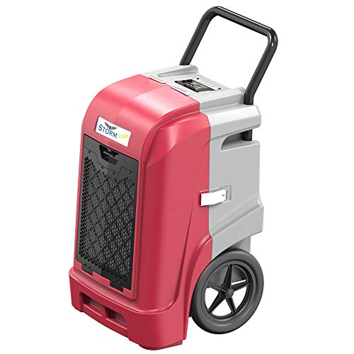 AlorAir Storm Ultra Industrial Dehumidifier 190 PPD, cETL, LCD Display, 5 Years Warranty, LGR Commercial Dehumidifier with Pump, Epoxy Coating on Coil, Designed for Flood Restoration (Red)