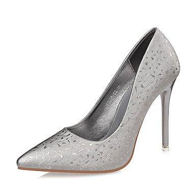 RTRY Zapatos De Mujer Polipiel Otoño Invierno Confort Tacones Stiletto Talón Señaló La Convergencia Para El Vestido Borgoña Plata Oro Negro US6 / EU36 / UK4 / CN36