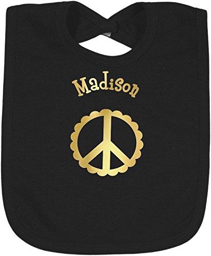 Peace Sign Foil Toddler Bibs (Select Foil Color) (Peace Bib)