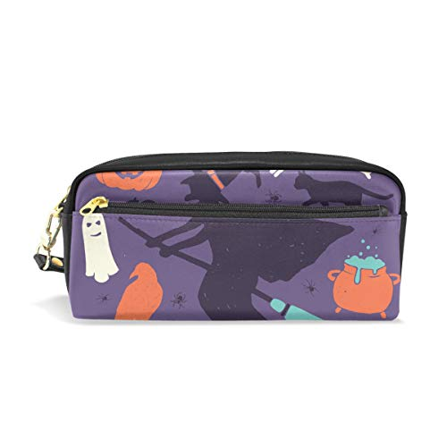 AMONKA Pencil Case Witch Halloween Pen Holder Cosmetic