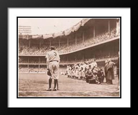 Framed Babe Ruth (Nat Fein Framed and Double Matted Art Print 25x29