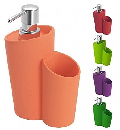 Wenko dispensador de jabón cerámica con Revestimiento de Soft Touch – – Dispensador para lavavajillas –
