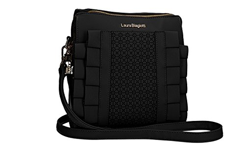Laura Biagiotti Shoulder Bag Backpack Black Woman With Zip Opening Vn1593