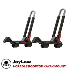 There may be divas on your road trip, but this boat carrier is very low maintenance. With multiple settings, the JayLow allows you to carry one boat in J-Cradle position, 2 boats in vertical position plus folds down when not in use. Weight: 1...