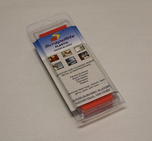 ScrapeRite Plastic Razor Blades (100 pieces w/200 edges)