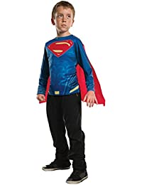 Boys Justice League Superman Top Costume, Small, Multicolor