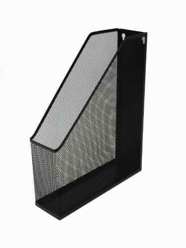 Buddy Products Mesh Magazine Holder, 12.6 x 2.8 x 10 Inches, Black (ZD019-4)