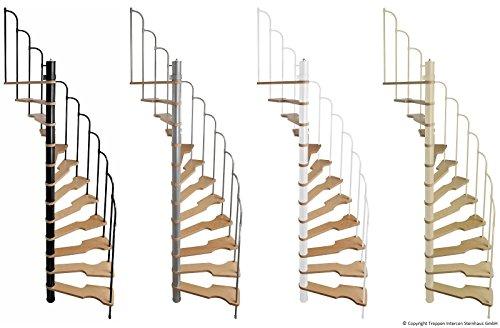 Intercon Spindeltreppe Skidoo120 x 60 cmoder 140 x 70 cm bis 292 cm Geschosshöhe