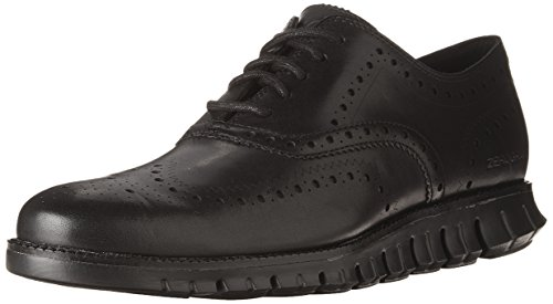 Cole Haan Men's Zerogrand Wing OX Leather Oxford, Closed Hole/Black, 10 Medium US