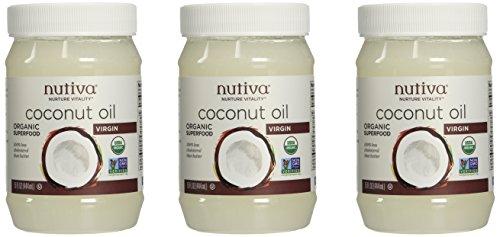 Nutiva Organic Virgin Coconut Oil, 15 Oz (Pack of 3)