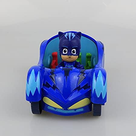 Amazon.com: 3pcs 3.5 doll with 6-7 inch car Characters Catboy Gekko Cloak Action Figure freddy Toys Boy Gift Plastic Mask brinquedos: Toys & Games