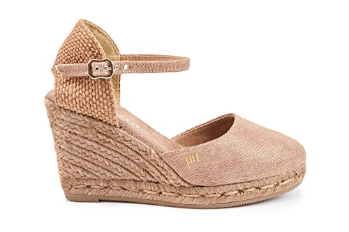 Made Ankle TieDyeBronze Espadrilles VISCATA 3 in Closed with Spain Strap inch Satuna Toe Heel Classic U1Bq46PB