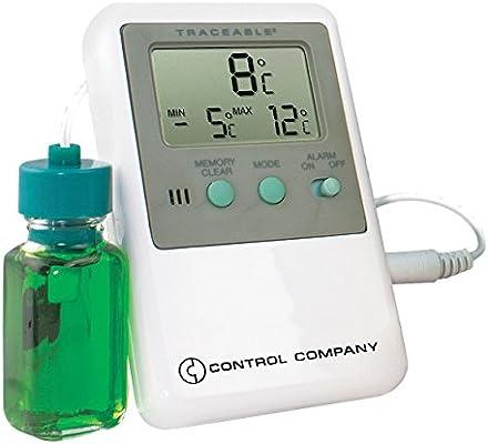 Control Company 4127 Termómetro rastreable para refrigerador ...