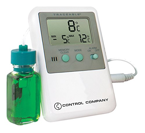Control Company 4127 Traceable Refrigerator/Freezer Thermometer with Bottle Probe