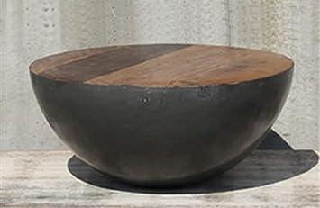 DESIGN Couchtisch BOWL Beistelltisch Sofatisch Holz Rund 70 X Cm Metall