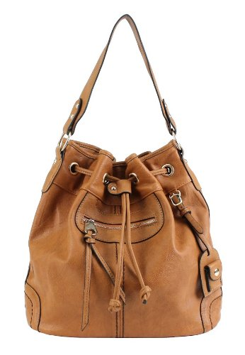 Scarleton Large Drawstring Handbag H107825 – Camel, Bags Central