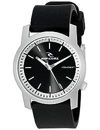 Rip Curl Men's 'Cambridge' Quartz Plastic and Silicone Sport Watch, Color:Black (Model: A2698-SIL)