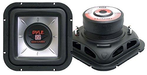 Pyle PLSQ10D 10-Inch 1,200-Watt Square DVC Subwoofer 10' Kicker Solo Baric Square