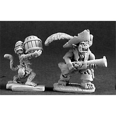 Reaper Goblin Pirate and Powder Monkey: Toys & Games