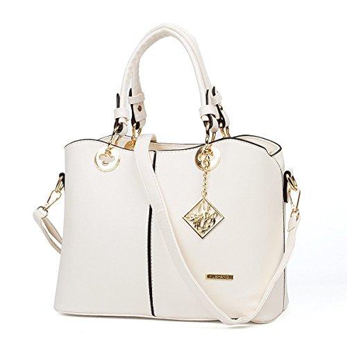 Thegood88 Fashion Ladies Luxurious Large Tote Messenger Leather Bag Shoulder Handbag TG0303 (Crossing Bag Purse)