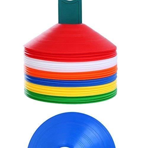 10 unidades Conos marcadores de espacios para entrenamientos de f/útbol de la marca Kimberleystore
