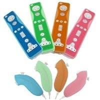 Fosmon Silikonschutzhüllen für Nintendo Wii Fernbedienungen und...