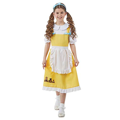 fun shack Girls Goldilocks Costume Childrens Fairytale Three Bears Dress - Large -