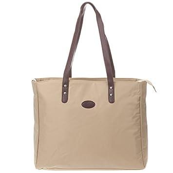 Amazon.com : Nylon Tote bolsa de pañales, Beige : Baby