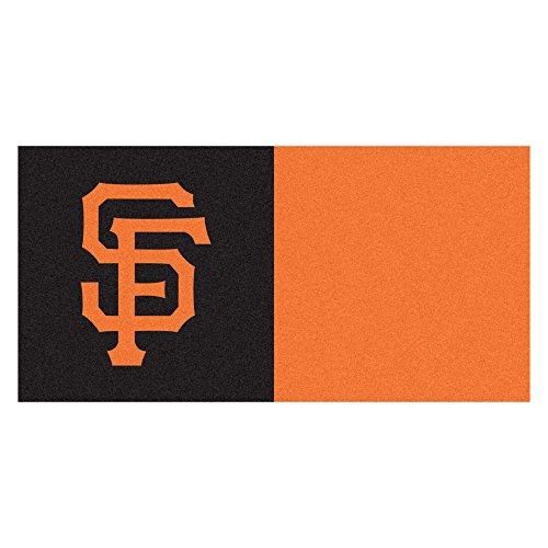 MLB San Francisco Giants Team Carpet Tile Flooring Squares, 20-PC Set ()