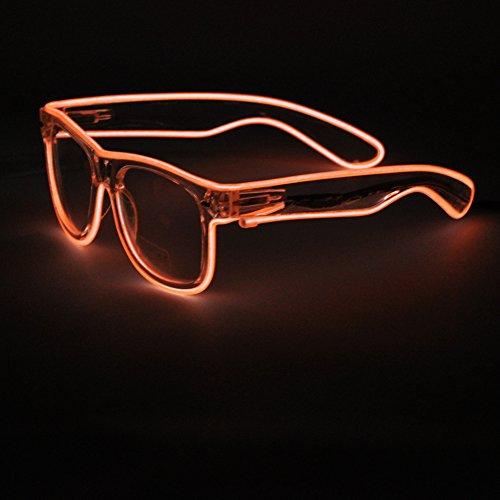 Generic EL Wire Rave Sunglasses LED Light Up Party Glasses(Orange) (Cb Champagne)