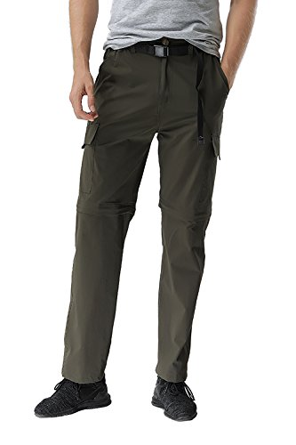 Binhome Men's Outdoor Quick Drying Convertible Hiking Pants (BH-Men003PantsBlack-L)