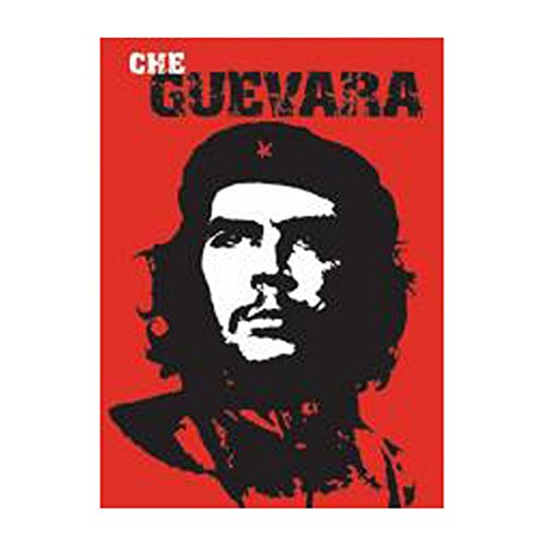 Guevara Che Face - LLP Black & White Che Guevara Face Poster with Red Background (24 Inches x 36 Inches) Out of Print