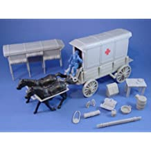 Plastic Toy Soldiers Civil War Union Ambulance Wagon Set with Accessories Marx Playset Type