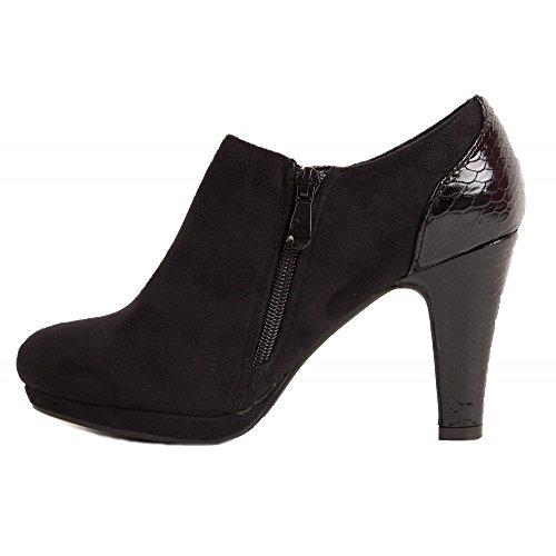 Low T38 Noir simili boots daim xTrwqYrS0B