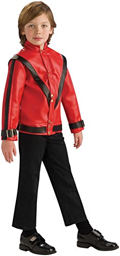 Michael Jackson Child's Deluxe Red Thriller Jacket Costume Accessory, (Michael Jackson Thriller Jacket Costumes)