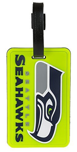 aminco Seattle Seahawks Luggage Tag Neon 2-Pack,SEAHAWKS COLORS,2 X 4