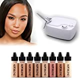 Aeroblend Airbrush Makeup Personal Starter Kit - Professional Cosmetic Airbrush Makeup System - TAN Foundation - Color Match