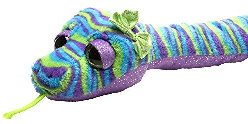 "Wild Republic Snakes, Snake Plush, Stuffed Animal, Plush Toy, Gifts for Kids, Stripes, 54"""