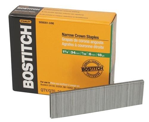 Black & Decker SX50351-3/8G Stanley Bostitch 18 Gauge 7/32'' Crown Staples 1-3/8'' Coated Finish, 4.5'' x 5.25'' x 1.5''